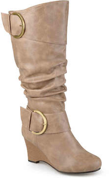 Journee Collection Women's Meme Extra Wide Calf Wedge Boot
