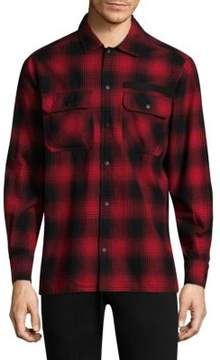 Ovadia & Sons Plaid Cotton Casual Button-Down Shirt