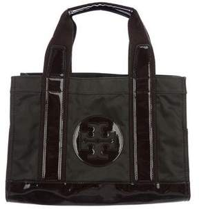 Tory Burch Patent Leather-Trimmed Tory Tote