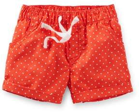 Carter's Toddler Clothing Outfit Pull-On Polka Dot Poplin Shorts Red