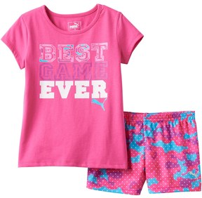 Puma Baby Girl Best Game Ever Tee & Shorts Set