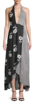 Privacy Please Sarah Mixed Print Hi-Lo Maxi Dress