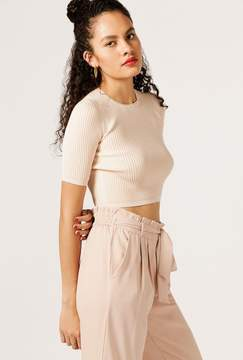 Azalea Fitted Ribbed Crop Top
