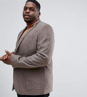 Farah PLUS Skinny Tweed Herringbone Blazer