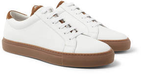 Brunello Cucinelli Suede-Trimmed Full-Grain Leather Sneakers
