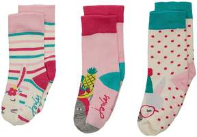 Joules Kids Brilliant Socks 3-Pack Girls Shoes