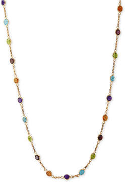 Effy Mosaic Collection Multi-Gemstone Link Collar Necklace (9 ct. t.w.) in 14k Gold