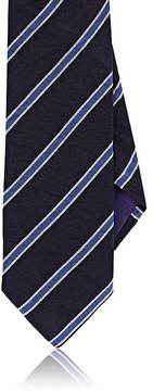 Ralph Lauren Purple Label Men's Diagonal-Striped Mulberry Silk Twill Necktie