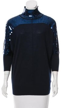 Escada Sport Sequin-Accented Wool Sweater
