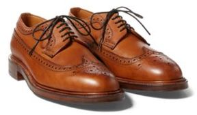 Ralph Lauren Wilberforce Wingtip Dark Tan 8