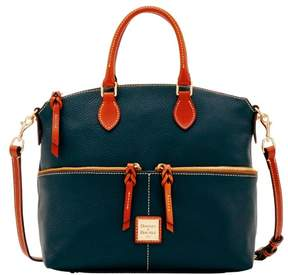 Dooney & Bourke Pebble Grain Double Pocket Satchel - BLACK - STYLE