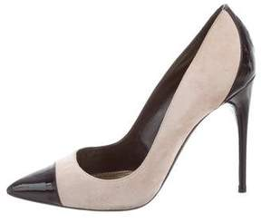 Tom Ford Cap-Toe Suede Pumps