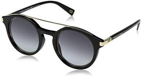 Marc Jacobs Marc173s Round Sunglasses, Black Gold/Dark Gray Gradient, 48 mm