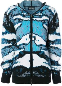 Baja East camouflage zipped hoodie