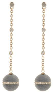Ettika Velvet Ball Chain Drop Earrings