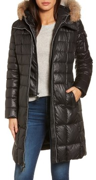 Andrew Marc Women's Quilted Coat With Genuine Coyote Fur