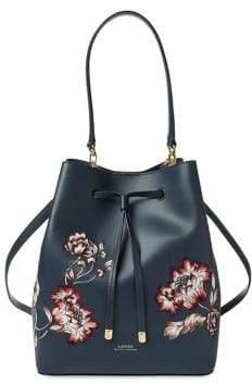 Lauren Ralph Lauren Floral Drawstring Bucket Bag