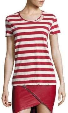 RtA Nicola Striped Distressed Tee