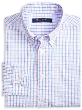 Brooks Brothers Boys' Seersucker Gingham Sport Shirt - Little Kid, Big Kid