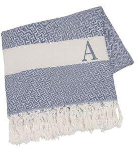 Cathy's Concepts Monogrammed Initial Patterned Cotton Throw