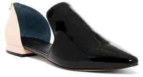Calvin Klein Edona Patent Two-Tone d'Orsay Flat