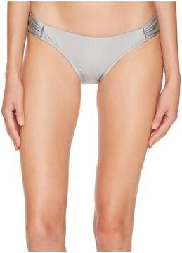 Letarte Printed Medium Coverage Lattice Side Bottoms Women's Swimwear