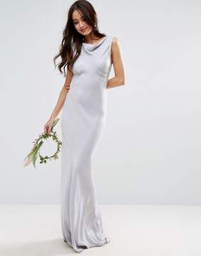 Asos DESIGN Bridesmaid 40s seamed maxi dress