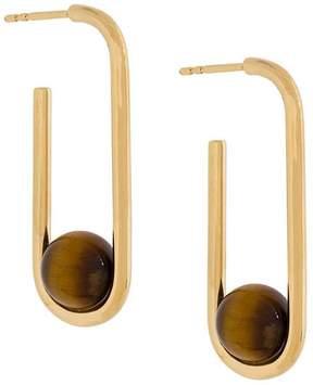 Astley Clarke Marcel oval hoop earrings