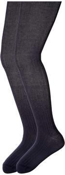 Jefferies Socks Cotton Rib Tights 2-Pack (Big Kid)