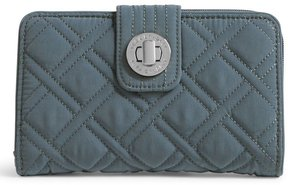 Vera Bradley Quilted Turn Lock Wallet - CHARCOAL - STYLE