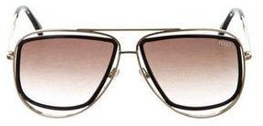 Emilio Pucci Gradient Aviator Sunglasses