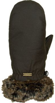 Barbour Wax With Fur Trim Mitten