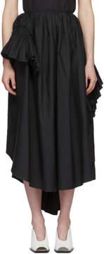 Jil Sander Black Esfera Ruffles Skirt