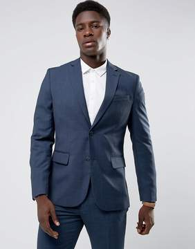 MANGO Man Slim Fit Check Suit Jacket In Navy