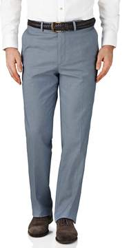 Charles Tyrwhitt Blue Chambray Classic Fit Stretch Cavalry Twill Pants Size W36 L32