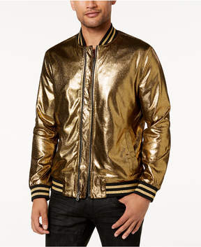 INC International Concepts I.n.c. Men's Gold Foil Bomber Jacket, Created for Macy's