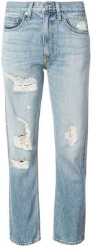 Brock Collection distressed straight-leg jeans