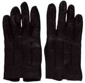 Saint Laurent Pebbled Leather Gloves