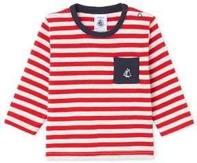 Petit Bateau Baby boys long-sleeved striped tee