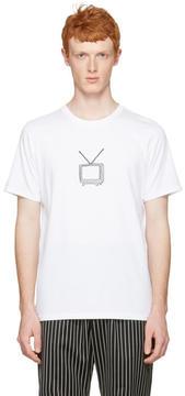 Rag & Bone White T.V. Embroidery T-Shirt