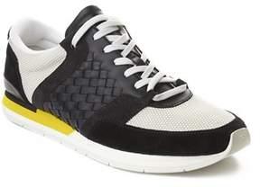 Bottega Veneta Men's Intrecciato Leather Sneaker Trainer Shoes Black Yellow.