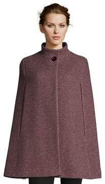 Cinzia Rocca Wool Cape Coat.