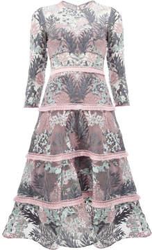 Alexis floral patterned flared dress