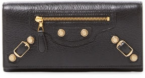 Balenciaga Women's Giant Leather Continental Wallet