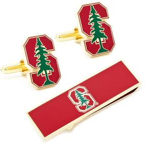 Ice Stanford University Cufflinks and Money Clip Gift Set