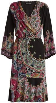 Etro V-neck paisley-print cady dress