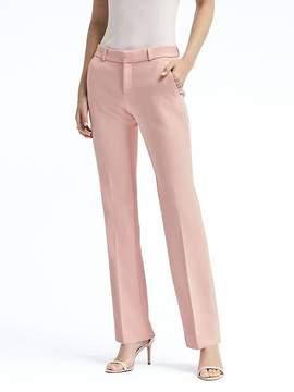 Banana Republic Logan Trouser-Fit Stretch-Crepe Solid Pant