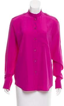 Celine Silk Button-Up Blouse w/ Tags