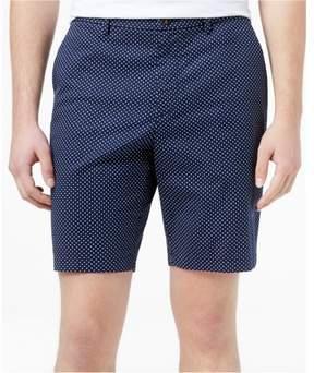 Michael Kors Pin Dot Casual Chino Shorts Blue 34