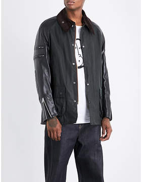 Junya Watanabe x Barbour Patch-detailed cotton and leather jacket